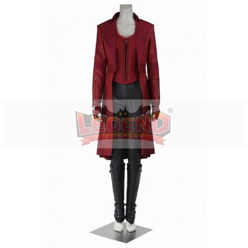 Captain America: Civil War Scarlet Witch Costume Dress Adult Wanda Maximoff Halloween Cosplay Costume