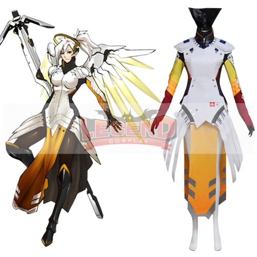 OW Overwatch Mercy Angela Ziegler cosplay costume whole set