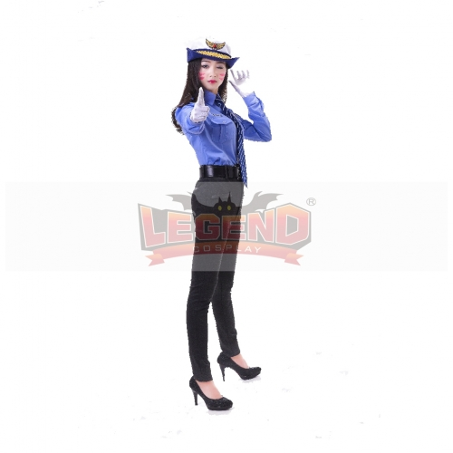 d.va costume Hana Song officer Dva cosplay d.va police costume