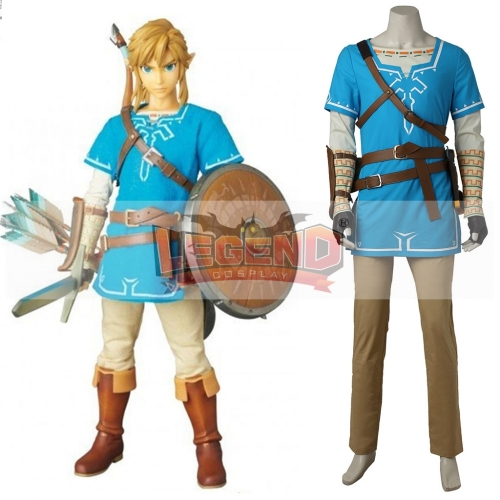 The Legend of Zelda: Breath of the Wild link adult cospaly Costume outfit full set