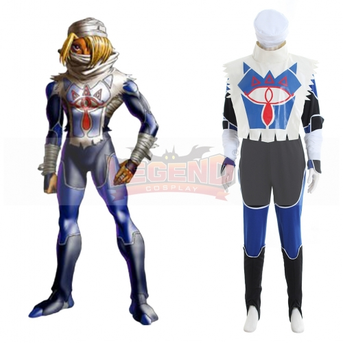 The Legend of Zelda Sheik Cosplay Costume outfit custom made