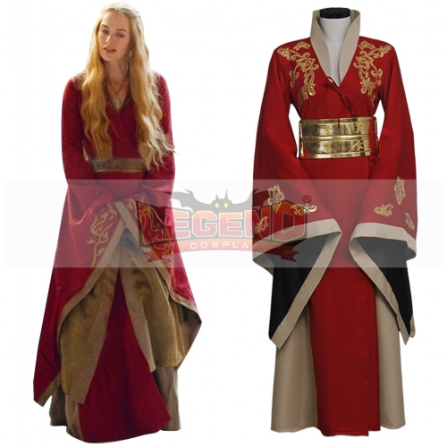 Game Of Thrones Queen Cersei Lannister Red dress Costume