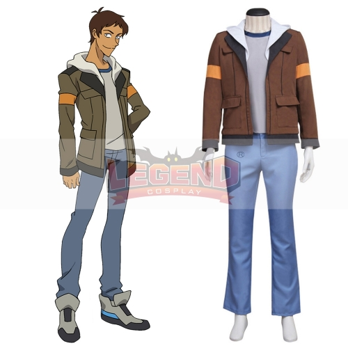 Voltron: Legendary Defender Lance Cosplay Costume Suit All Size brown full set custom made