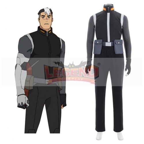 Voltron: Legendary Defender Shiro Black Adult Suit Cosplay Costume Suit All Size
