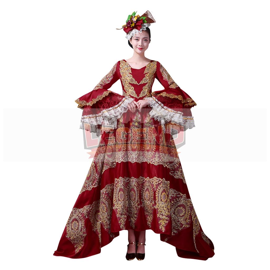 Women Retro Medieval Renaissance Victorian Dresses Princess Ball ...