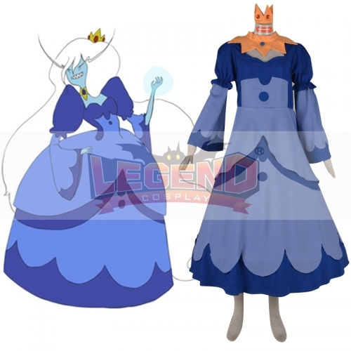 Adventure Time Ice Queen Cosplay dress costume