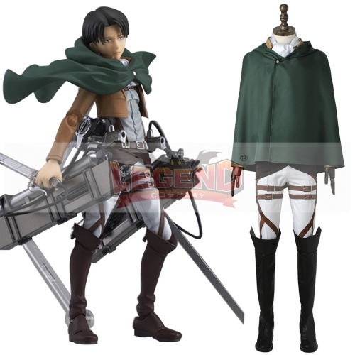 (with shoes)Attack On Titan Rivaille Ackerman costume Scout Regiment Scout Legion Survey Corps costume