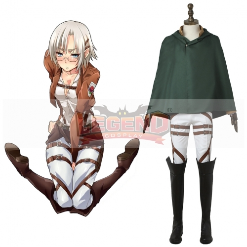(with shoes)Attack On Titan Stationed Corps cosplay adult costume