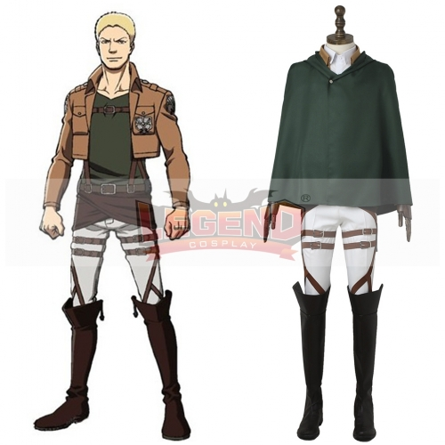 (with shoes)Attack On Titan Training Corps cosplay adult costume