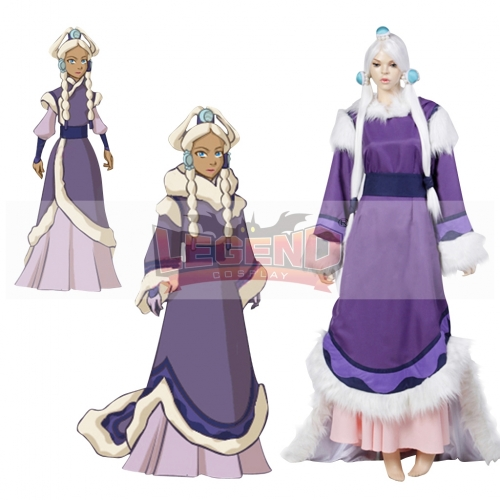 (without wig)Avatar The Last Airbender Princess Yue Cosplay Costume