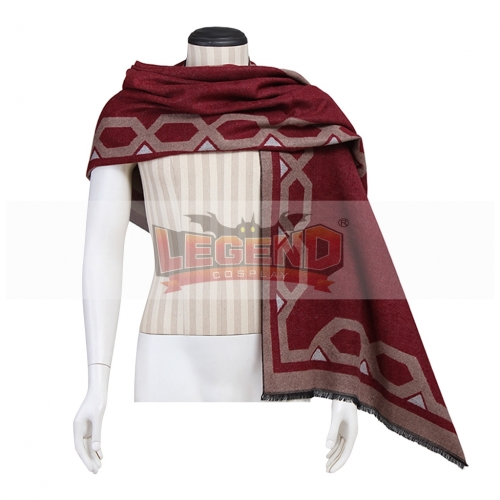 Overwatch OW Jesse McCree Cosplay costume Shawl Red Wrap Men Scarf