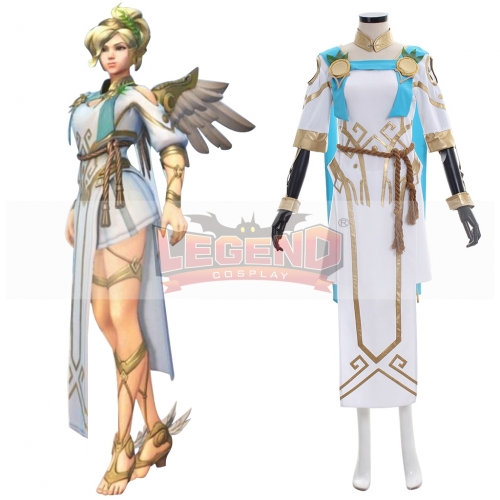 Overwatch OW Mercy Victory cosplay costume Angela Ziegler summer skin cosplay costume adult dress