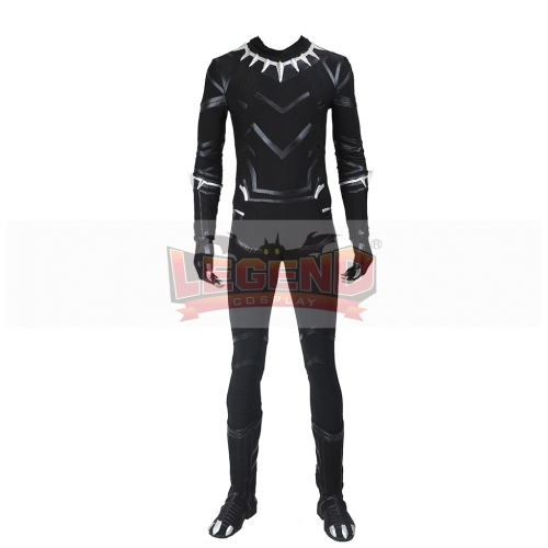 Captain America: Civil War Black Panther Cosplay Costume with shoes