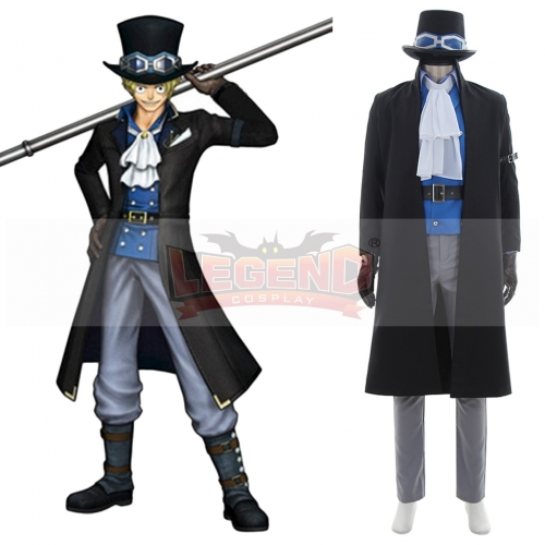 One Piece Sabo Cosplay Costume black with hat Cosplay adult costume