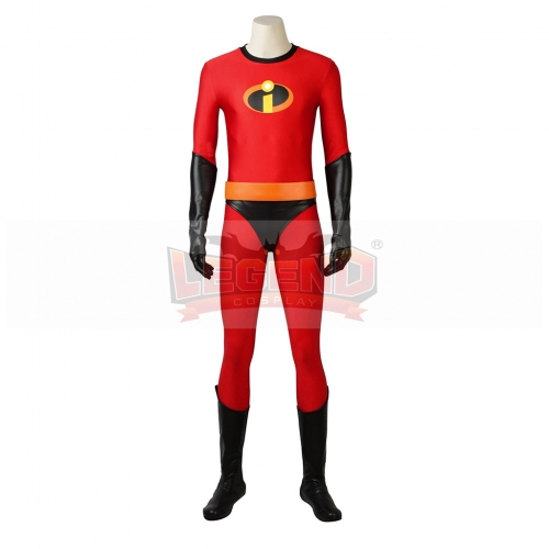 Incredibles 2 Cosplay Bob Parr Mr.Incredible Hero Red Jumpsuit Costume For Adult Halloween Party