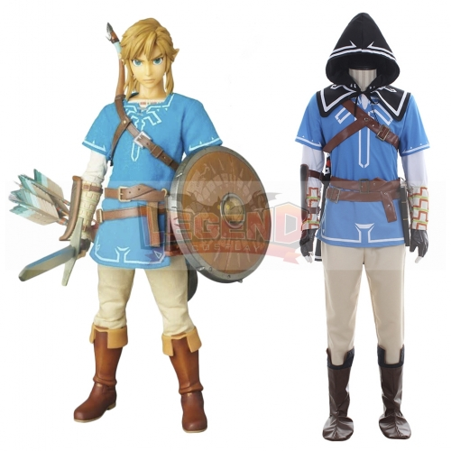 The Legend of Zelda Breath of the Wild Link Cosplay Costume For Adult Custom Made