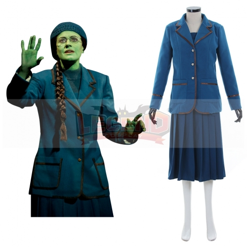 Elphaba from Wicked Blue Outsuit For Adult Halloween Cosplay  Costume