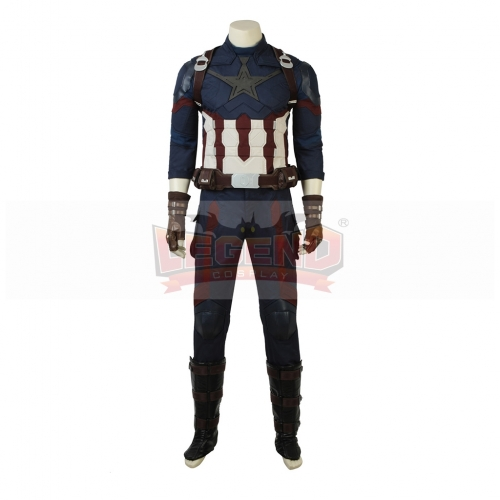 Avengers Infinity War Captain America Cosplay Steve Rogers Costume Halloween Carnival(No wrist shield included )