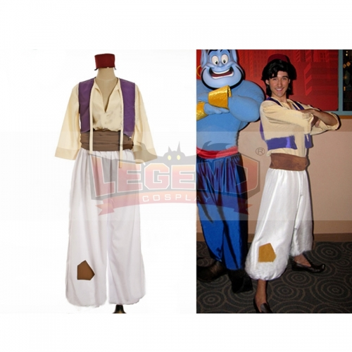 Movie Aladdin Lamp Prince  Cosplay Costume for adults Aladdin adult cosplay princess