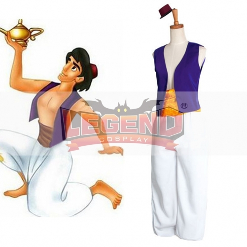 Movie Aladdin Lamp Prince Aladdin Prince Cosplay Costume For Halloween Carnival Custom Made