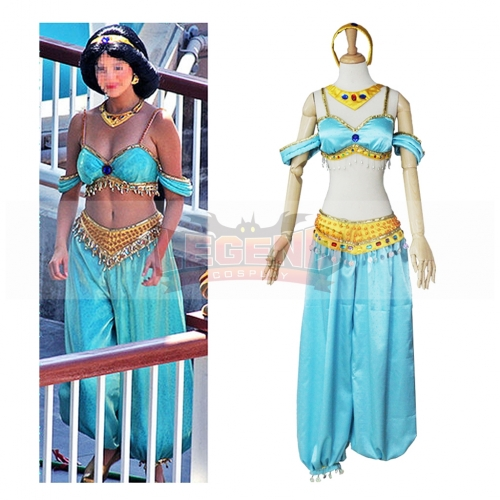 2018 Hot Halloween Sexy Costume Aladdin and The Magic Lamp Princess Jasmine Cosplay Costume
