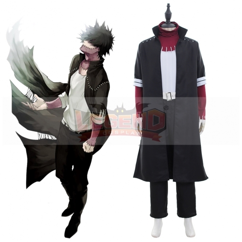 Anime My Hero Academia Boku no Hero Akademia Dabi Cosplay Costume Long version Outfit Halloween Adult Costume