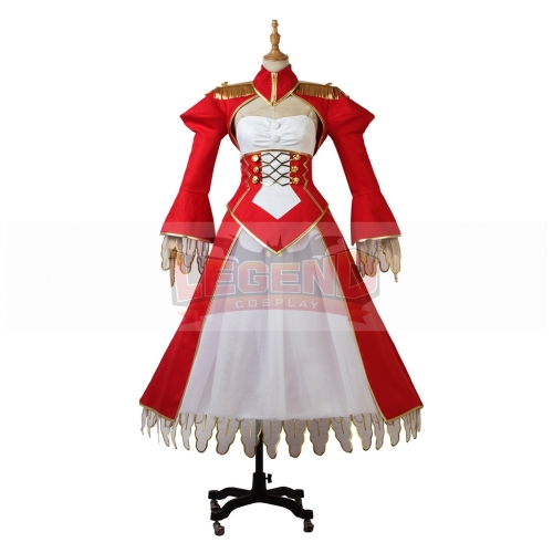 Fate EXTRA Last Encore Cosplay Nero Claudius Costume Halloween Party Custom Made