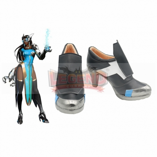 Game OW Hero Symmetra  Cosplay Shoes For Halloween Carnival