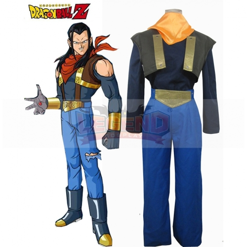 Dragon ball Z Super Android No.17 Cosplay Costume Halloween Costume