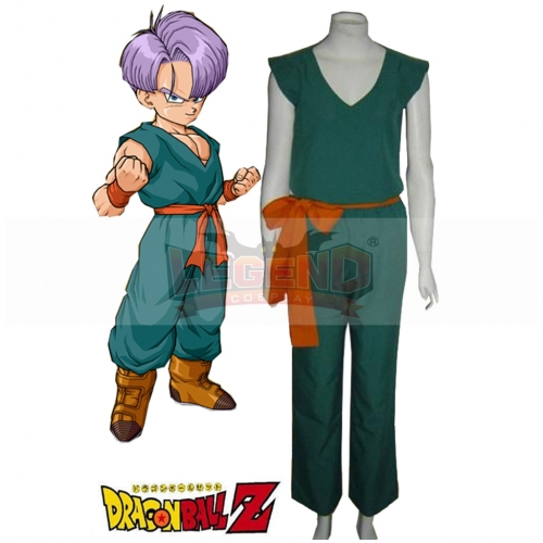 Dragon Ball Childhood Trunks Cosplay Costume Green Outsuit