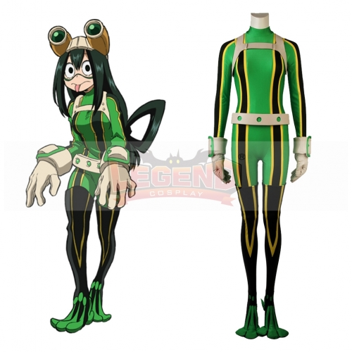 Anime My Hero Academia Cosplay Asui Tsuyu Costume For Adult Halloween Custom Made