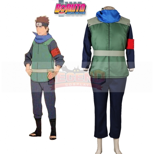 Boruto: Naruto the Movie Sarutobi Konohamaru Konoha Ninja Uniform Anime Cosplay Costume