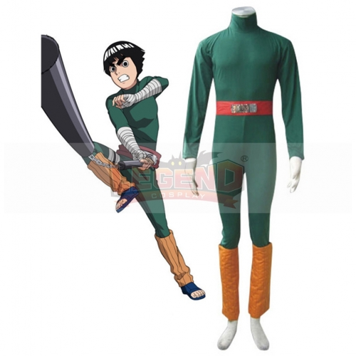Naruto Rock Lee Cosplay Costume For Adult Men Halloween Custom Made