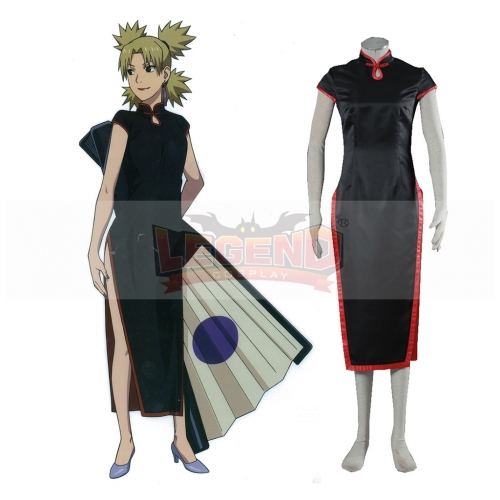 Anime Naruto in China Temari Cheongsam Dress For Women Cosplay Costume Sexy Dress