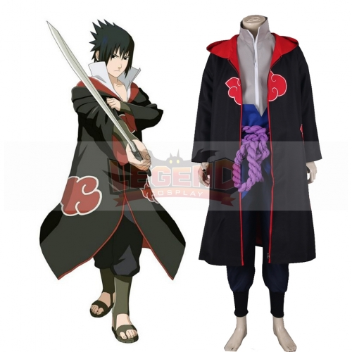 Naruto Shippuden Uchiha Sasuke Eagle Organization Uniform Suit Anime Cosplay Costume