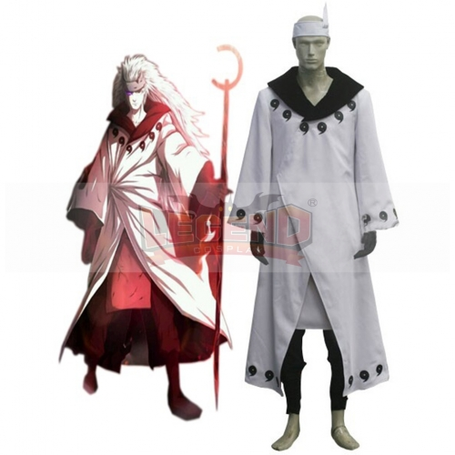 Naruto Madara Uchiha Jinchuriki Transformation Cosplay Costume Long Cloth