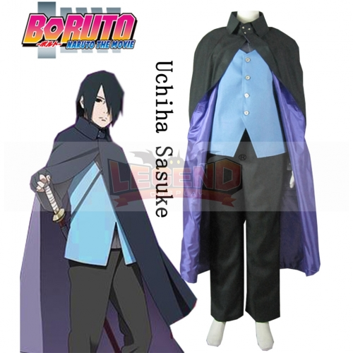 Anime Boruto: Naruto the Movie Uchiha Sasuke Konoha Full Suit  Cosoplay Costume