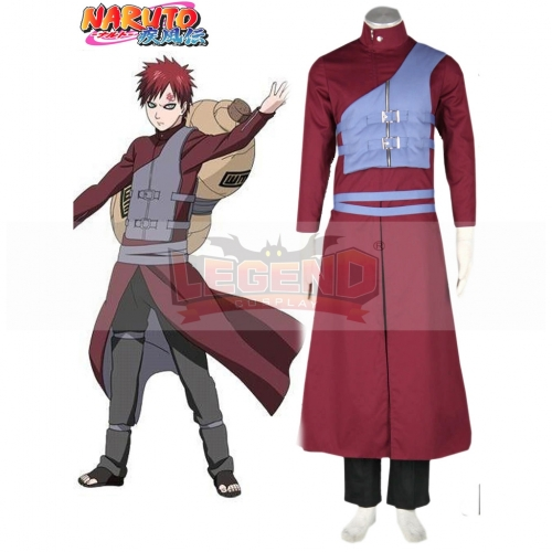 Naruto Shippuden Gaara Red Outsuit Cosplay Costume For Adult Handsome Custom Made