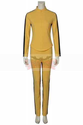 Cosplaylegend Kill Bill Vol.1 The Bride Cosplay Costume Yellow Outfits Halloween Uniform Full Set
