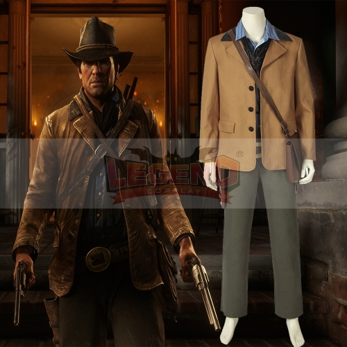 Cosplaylegend Game Red Dead Redemption 2 Authur Morgan adult costume all size custom made outfit with hat bag with shoes