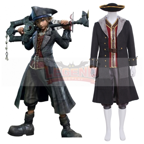 Cosplaylegend Game Kingdom Hearts III Sora Pirate Cosplay Costume Outfit Halloween Suit Full Set