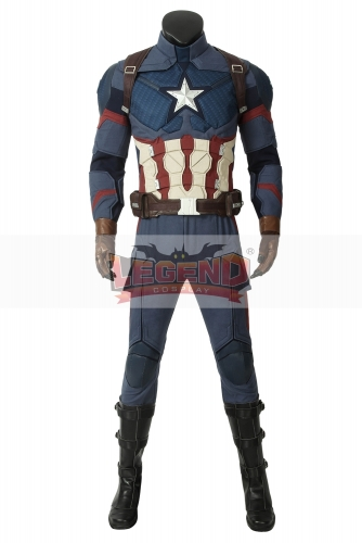 (With Shoes) Avengers: Endgame Steven Rogers Captain America cosplay costume