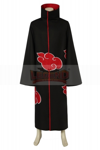 Cosplaylegend Anime Naruto Akatsuki /Uchiha Itachi Cosplay Halloween Christmas Party Costume Cloak Cape