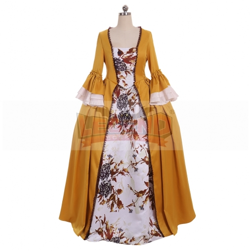 Cosplaylegend Custom Made Outlander Claire Fraser Dress Yellow Rococo Ball Gown Dress Marie Antoinette Princess Queen Party Dress