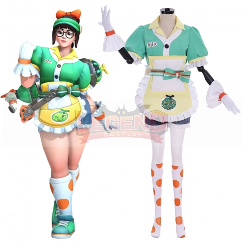 Cosplaylegend Overwatch Anniversary 2019! Mei Legendary Skin Mei Ling Zhou Cosplay Costume Women Halloween Party Outfits Custom Made