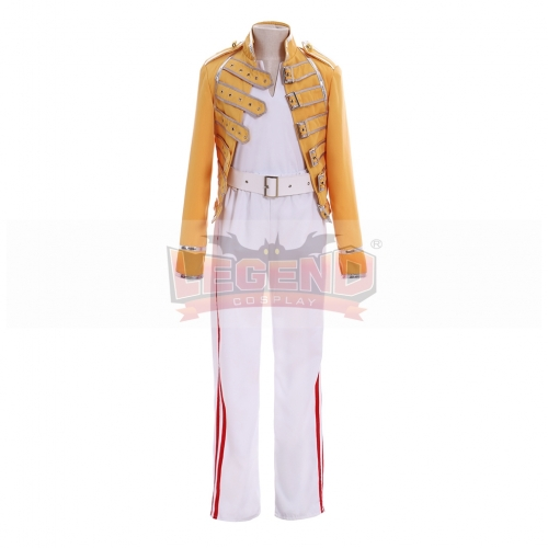 Cosplaylegend Queen Lead Vocals Freddie Mercury Wembley On Stage Cosplay Jacket Costume Suit Full Set