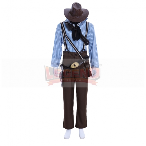 Cosplaylegend Red Dead: Redemption 2 Authur Morgan Cosplay Costume With Hat Full Outfits Halloween Carnival Outfit Custom Made