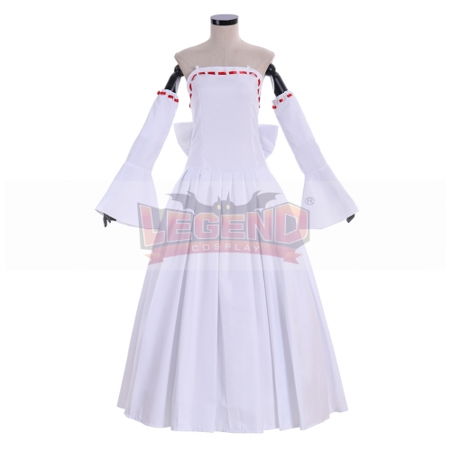 Cosplaylegend Anime Seven deadly sins Elaine cosplay costume adult outfit female white dress custom made