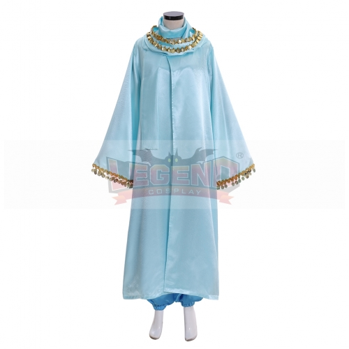 Cosplaylegend Aladdin Princess Jasmine Dress Outfit Costume with cape cosplay costume