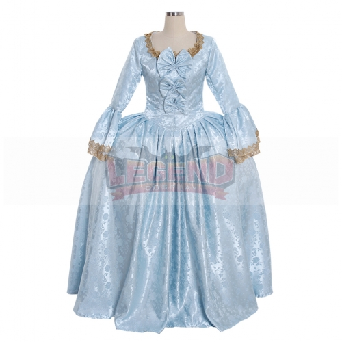 Cosplaylegend 18th Century Marie Antoinette Colonial Rococo Ball Gown Dress Adult Women Blue Belle Dress Wedding Dress